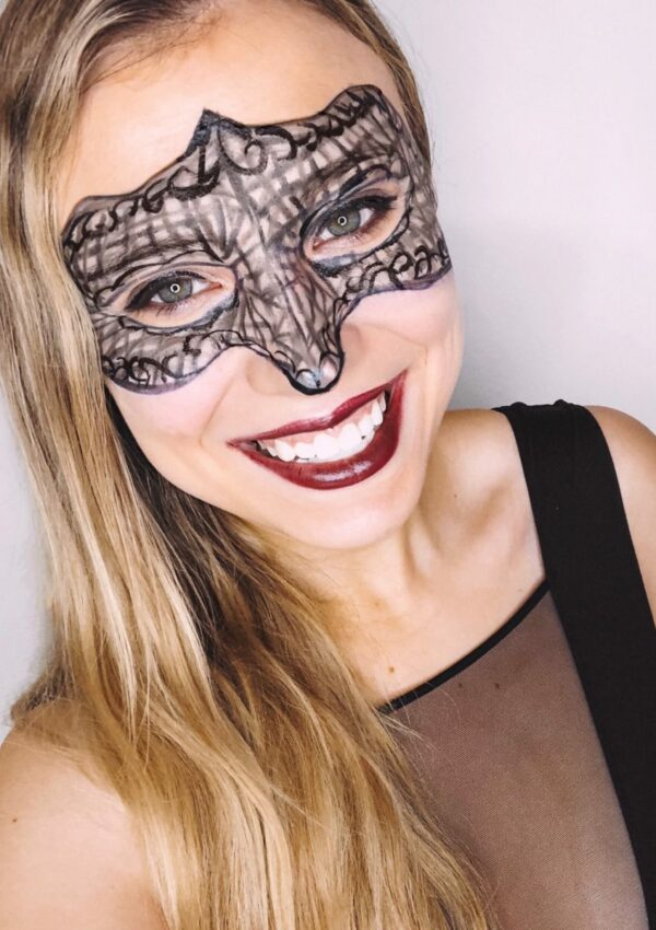 Masquerade Mask Halloween Makeup Tutorial